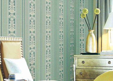 Papel pintado floral rayado clásico lavable, recubrimientos de paredes durables materiales del vinilo
