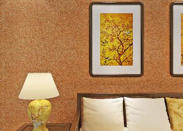 recubrimiento de paredes de la mica de los 0.53*10m/color moderno tejido no- del amarillo del papel pintado de la sala de estar