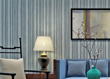 Prueba de calor moderna del papel pintado de la piedra de la mica del estilo con el material de la naturaleza, modelo de las rayas