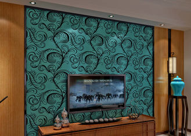 Recubrimiento de paredes insonoro de lujo Wallpaper/3D de la multitud del terciopelo con el tamaño de los 0.7*10M, Eco amistoso