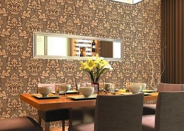 papel pintado floral grabado en relieve precio barato de los 0.53*10m para la decoración casera, SGS CSA enumerado