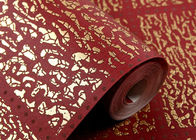 Red Plaids Bronzing Contemporary Wall Coverings Home Decorating Wallpaper