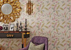 Leaf Printing Modern Removable Non Woven Wallpaper Waterproof Vinyl Wall Covering
