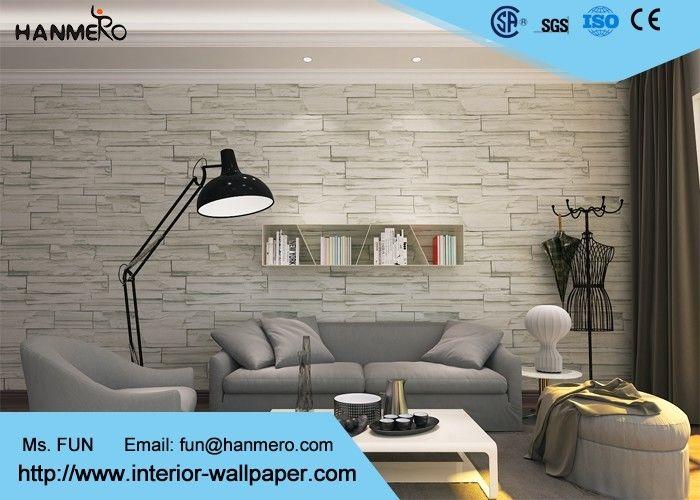 Papel pintado del efecto del ladrillo del color verde 3d para el hogar recubrimientos de - Recubrimientos de paredes ...