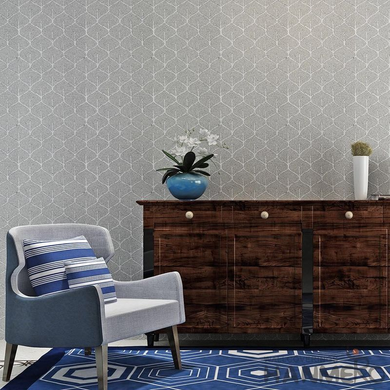 0.53*10M/Roll Living Room Wallpaper , Modern Embossed Wallpaper