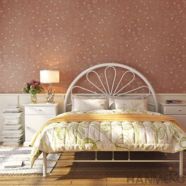 Bedroom Interior Wallpaper Designer Plant  Fiber Particle 0.53*10M Size